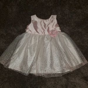Blush pink sparkle party girl dress size 2T